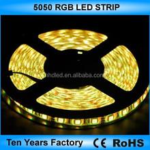 High quality 12v waterproof rgb 5050 led strip lighting