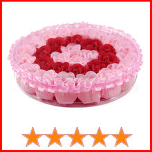 Newest pretty flower soap wedding gift/fancy flower soap wedding decoration