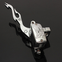 1inch Motorcycle Flame Brake Master Clutch Lever For Harley /Suzuki /Honda