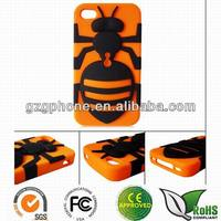 3 in 1 silicone bee case for iphone 4/4s/5/5s