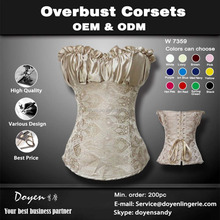 China Corset Manufacturer waist training corsets wholesale half cup stain corset bustier