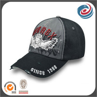 man's fashion stone washed broken 3D embroidery and printing hat