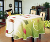 Round 160cm plastic table cloth with nonwoven backing/ vinyl tablecloth with nonwoven, France 3 layers laminated pvc tablecloth