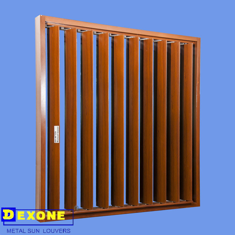 Manual operable Aluminum vertical adjustable louver shutter, View ...