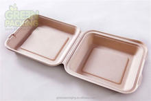 Biodegradable plant fiber food container/ plant fiber clamshell/ plant fiber togo boxes