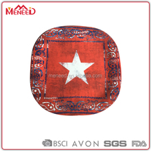 Professional manufacturer bulk buy plastic restaurant dishes red square melamine printing plates wholesale