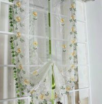 office furniture beautiful printed voile fabric in elegant style ready made curtain