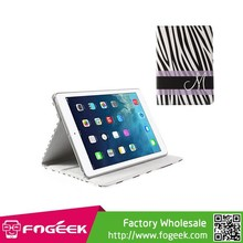 Zebra Stripe Smart PU Leather Case Stand w/ Elastic Band for iPad Air