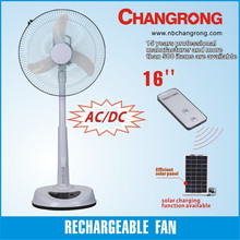 new rechargeable 12V AC/DC oscillating stand fan with light