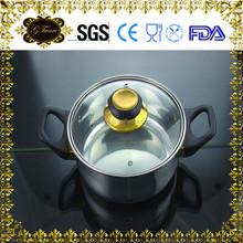 12pcs wholesale stainless steel cookware/soup pot set/frying pan