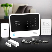 PSTN+wifi and GSM wifi alarm system with free charge for message push,compatible with all wireless detectors with 433mhz