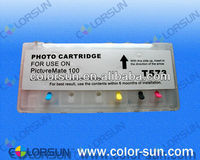 refillable ink cartridge for epson T573 Picture Mate100 with ARC chips