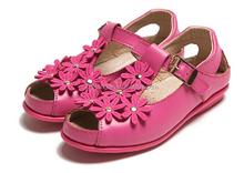 2015 girls genuine leather summer dress sandals