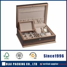 Handicrafted Mans Jewellery Watch Box Locking Storage