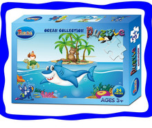 Customized Logos Available paper jigsaw puzzle Kids toys gifts