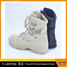 Coyote Military Desert Boots With YKK Zipper For Sale /Camping Boots
