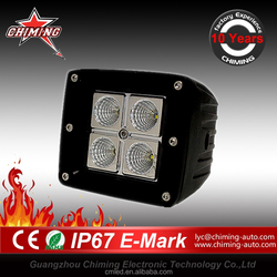 4leds Square LED Motorcycle/Heavy Duty Machine 16w truck work light
