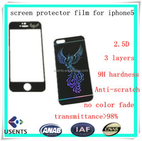 wholesale 3 layers anti-scratch tempered glass screen protector,shatterproof colored screen glass film for iphone