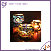 #K4554 cheap decorative mosaic candle holder