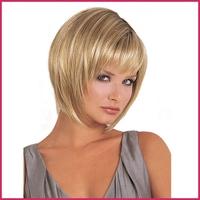 Wholesale Sythetic Bobo Hair Wig For Women Natural Short Soft Blonde Wig 100% Kanekalon Fiber