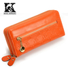 SK-6038 Professional travel wallets women leather wallets with double zipper chain