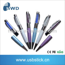 new product 2015 colorful plastic usb pen with writing function usb memory stick