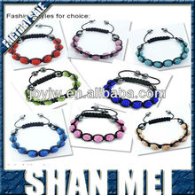 crystal fresh handmade shamballa bracelet friendship bead bracelet with good price and high quality