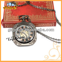 Graphite powder carve patterns or designs on woodwork mechanical hot sell pocket watch 994