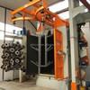 1 Q37 series hanger type shot blast equipment for Aluminium part cleaning
