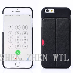 Black PU leather wallet mobile phone accessory