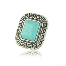 Square Shape Mood Stone Serenity Fashion Ring Color Changing Mood Ring