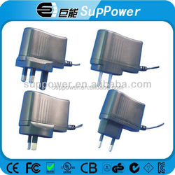 universal ac dc power supply with AUS EU UK US plug 12v 1a power adapter