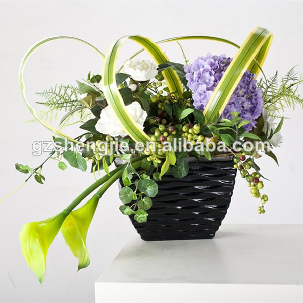 China de alta calidad artificiales flor olla peque a for Plantas decorativas de plastico