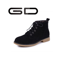 New type of short boots dermal crude tall with short tube and female leisure low scrub naked boots Martin boots