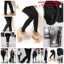 Trend Knitting free Solid Shipping Hot Sale 2015 Winter New High Elastic Thicken Lady's Leggings Warm Pants Skinny for Women