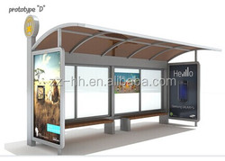 LED lighting Metal Bus Shelter design prices