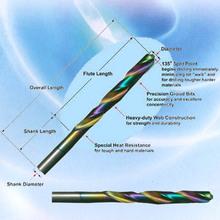 HSS Amber Cobalt Straight Shank Drill Bit, DIN 338-hss drill