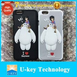 2015 New 3D Baymax Rubber PVC Phone Case for iphone 6 Custom Case