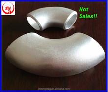 Butt Welded ASTM B 361 8'' SCH 40S 6061-T6 LR 90 Degree Aluminum Elbow