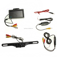 4.3 inch LCD Monitor Wireless waterproof Backup Car Reversing Rear View Camera Security Parking System Night Vision