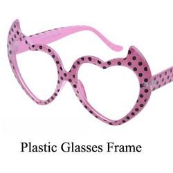 Sweet Fashion Glasses Frame Heart Shape Pink Plastic Glasses Frame