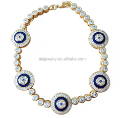 Blue Glass evil eye Tennis Bracelet online shop