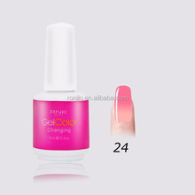 RNK BRAND top sale guaranteed high quality nail products three step uv gel polish color changing nail beauty gel