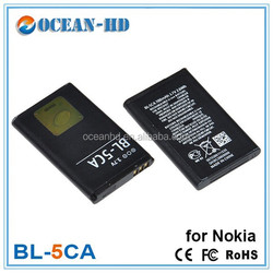 Mobile phone battery for nokia bl-5ca 1100/2330/1108/1110/1200/1208/1112/2300/1116/1600