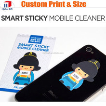 Microfile reusable full color print sticker mobile screen cleaner