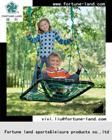 Iron round and rubber foam pipe garden swing seats for baby