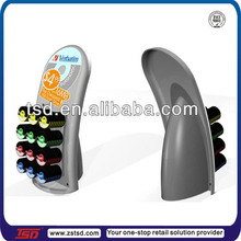 metal hook round flash disc/ disk counter display stand