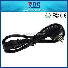 9 years electrical supplier power cord 3.5mm audio cable European ac cable 3 prong C14