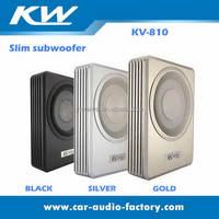 810 car slim subwoofer aluminum subwoofer underseat subwoofer