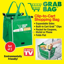 Grab Bag Clip to Cart Shopping Bag